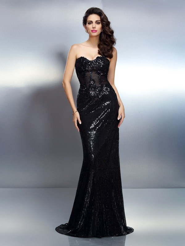 Exquisite Mermaid Sweetheart Sleeveless Long Lace Dress