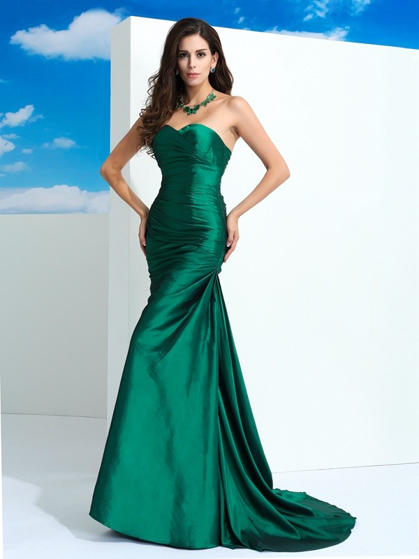 Nice Sheath Sweetheart Sleeveless Long Taffeta Dress
