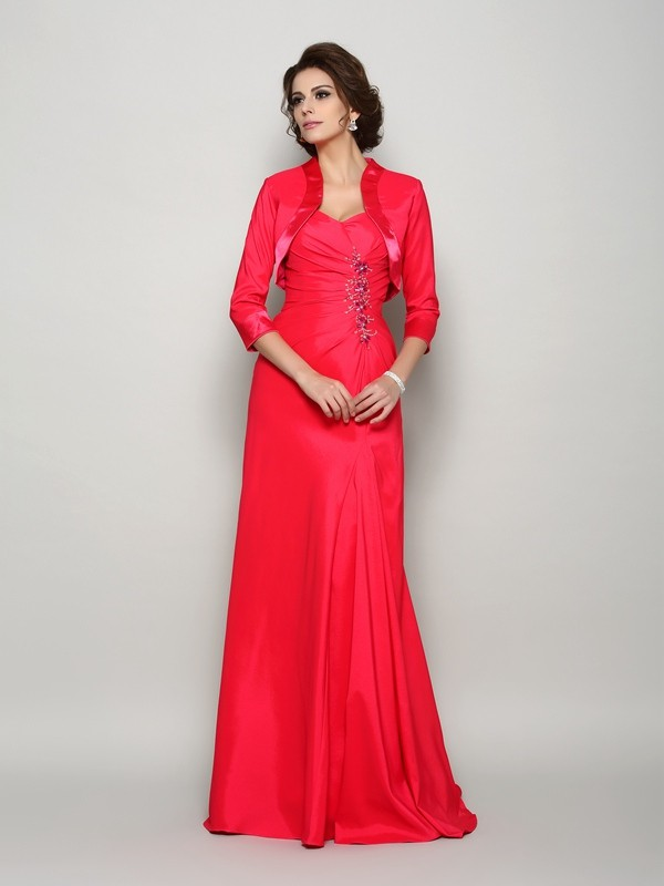 Chic Elastic Woven Satin 3/4 Sleeves Special Occasion Wrap