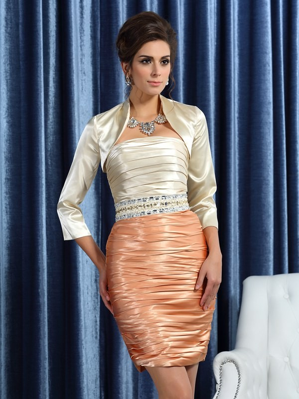 Chic Silk like Satin 3/4 Sleeves Special Occasion Wrap