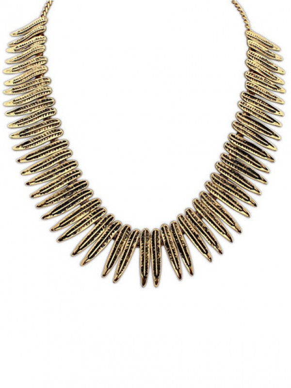 Stylish Occident Hyperbolic Punk Personality Metallic Necklace