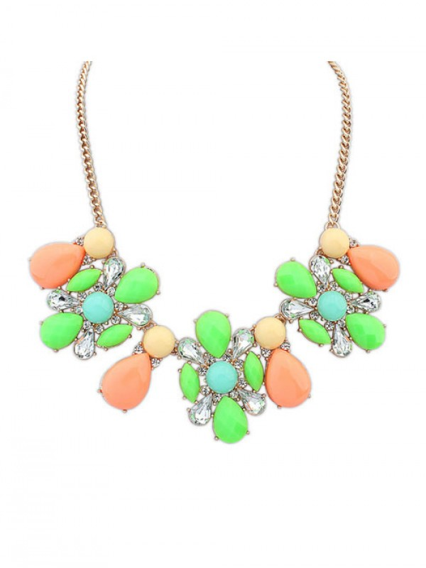 Stylish Occident Street shooting Collision color Exquisite Necklace