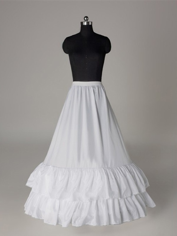 New Nylon A-Line 1 Tier Floor Length Slip Wedding Petticoat