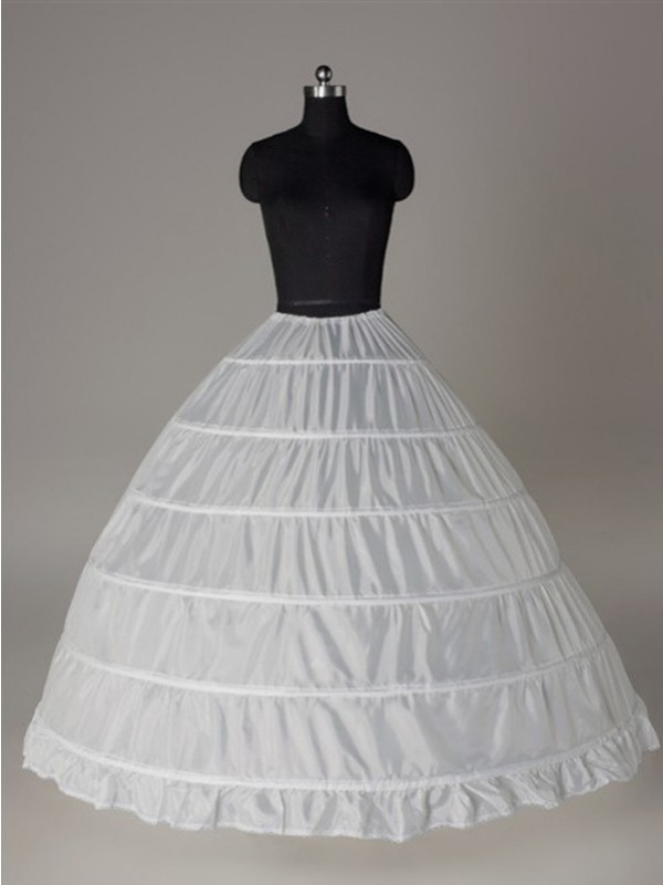 New Nylon Ball-Gown 1 Tier Floor Length Slip Wedding Petticoat