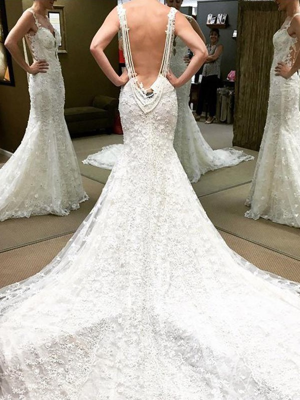 Fashion Ball Gown Short Sleeves Cathedral Train Off-the-Shoulder Lace Wedding Dress