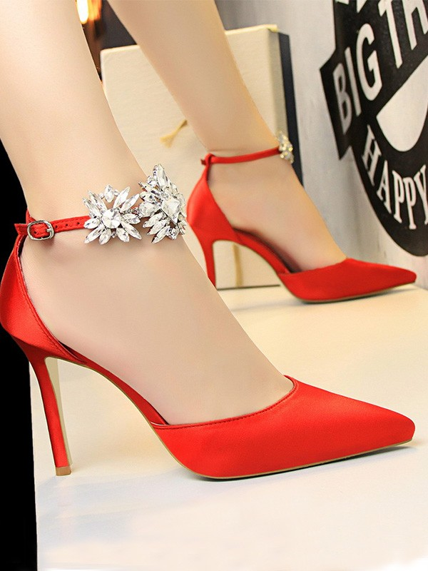 New Women Girls Patent Leather Stiletto Heel Closed Toe High Heels