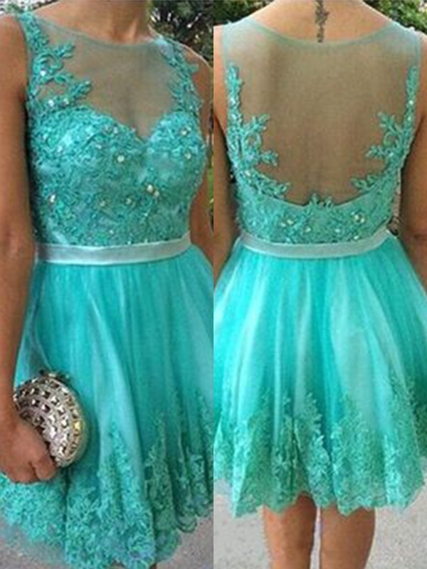 Beautiful A-Line Scoop Tulle Short Dress