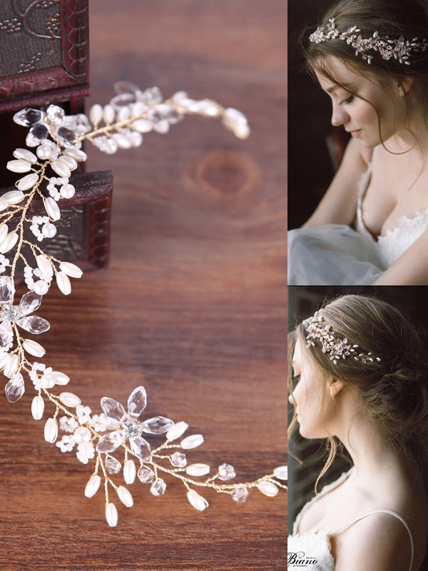 Beautiful Simple Pearls Headpiece