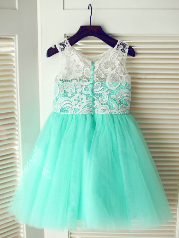 Discount A-line Tea-length Tulle Flower Girl Dress