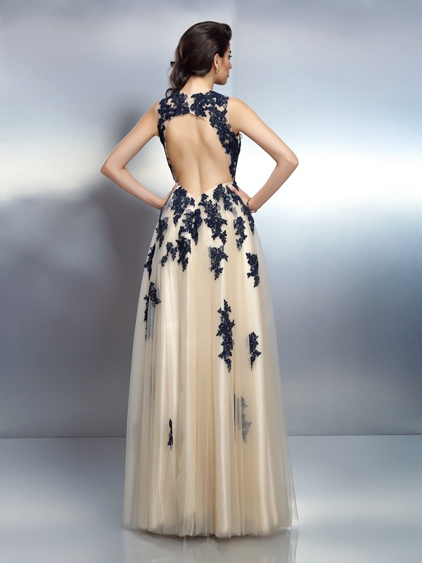 Exquisite A-Line Straps Sleeveless Long Elastic Woven Satin Dress