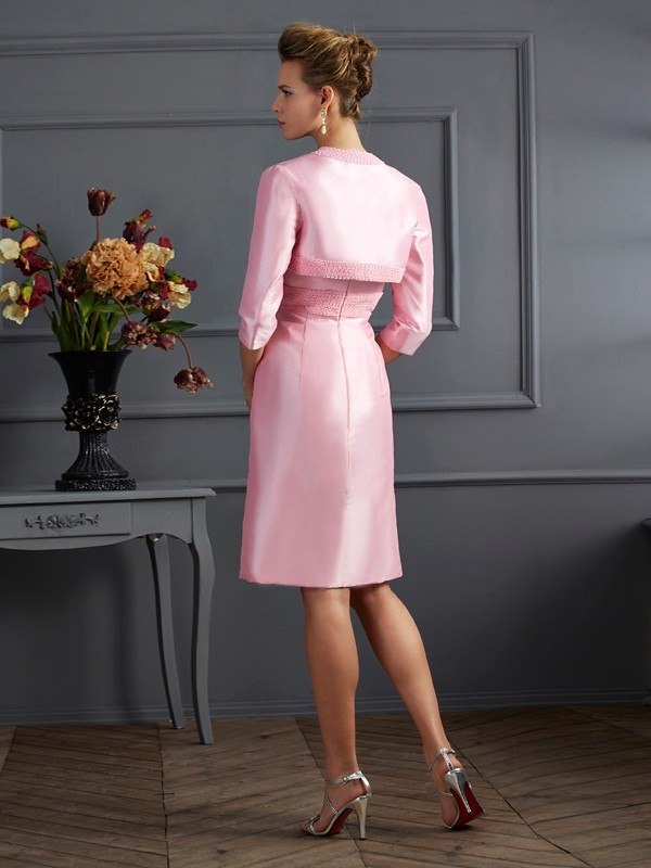 Chic Taffeta 3/4 Sleeves Special Occasion Wrap