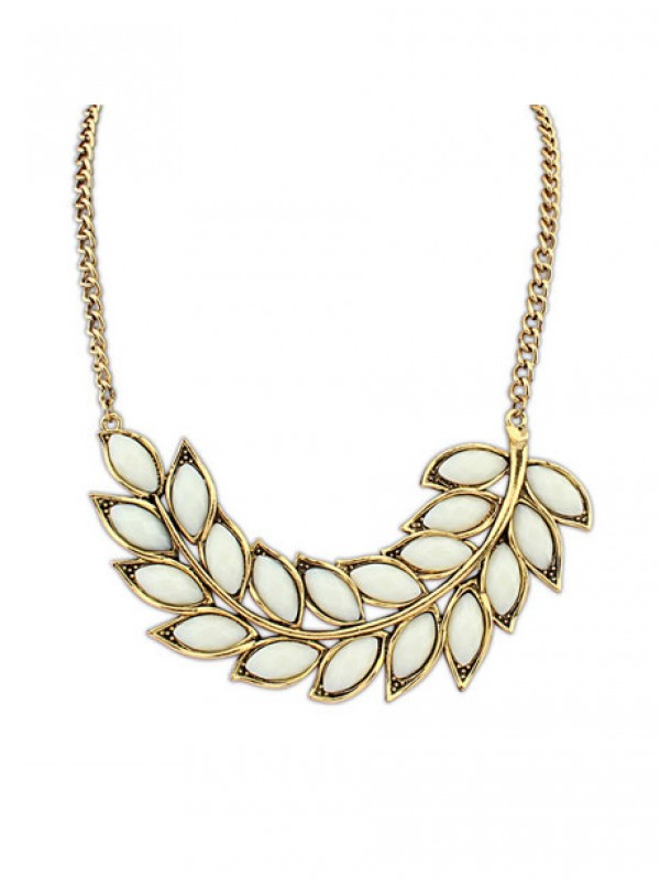Stylish Occident New Bohemia Tree leaf Necklace