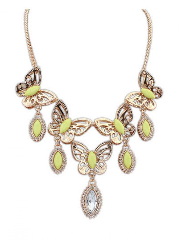 Stylish Occident Stylish Butterfly Tears Boutique Necklace