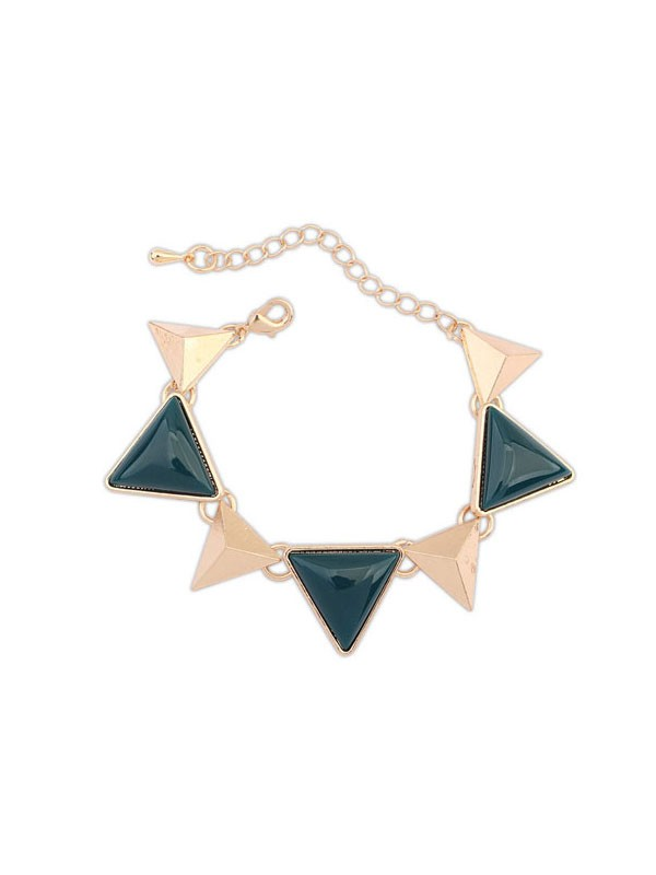 Gorgeous Occident Retro Punk Geometry Triangle Bracelet