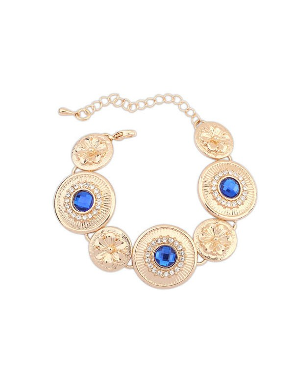 Gorgeous Occident Popular Round Plate Bracelet