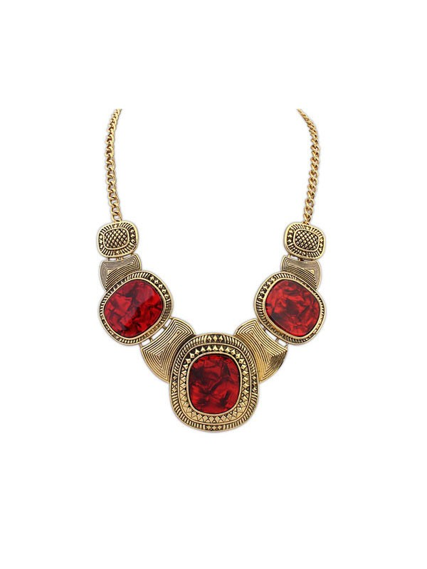 Gorgeous Occident Retro Leopard Pattern Hyperbolic Necklace