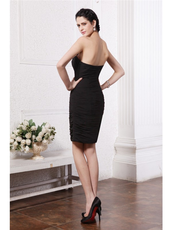 Hot Sale Sheath Sweetheart Sleeveless Short Chiffon Cocktail Dress