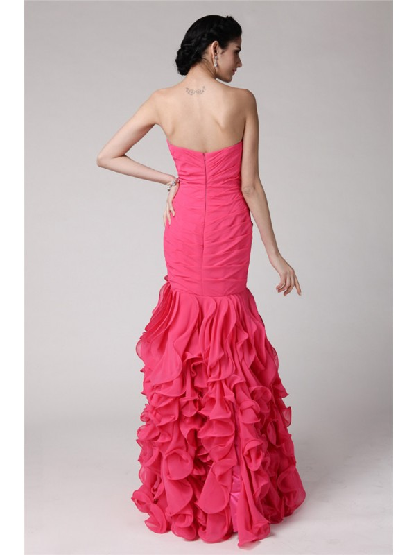 Hot Sale Mermaid Sweetheart Sleeveless Long Chiffon Dress