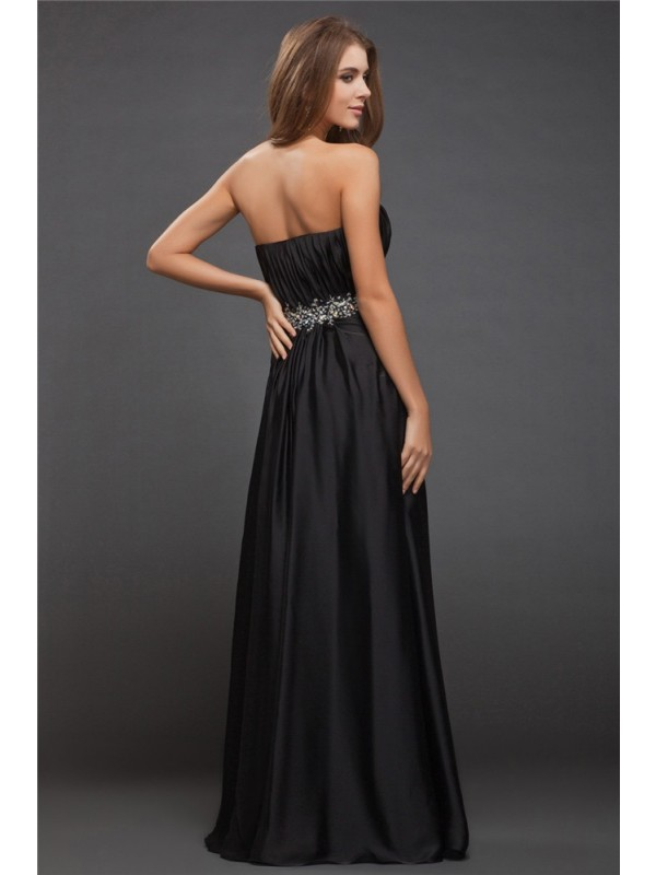 Gorgeous Sheath Sweetheart Sleeveless Long Charmeuse Bridesmaid Dress
