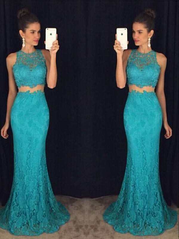 Stunning Sheath Scoop Sleeveless Floor-Length Lace Dress