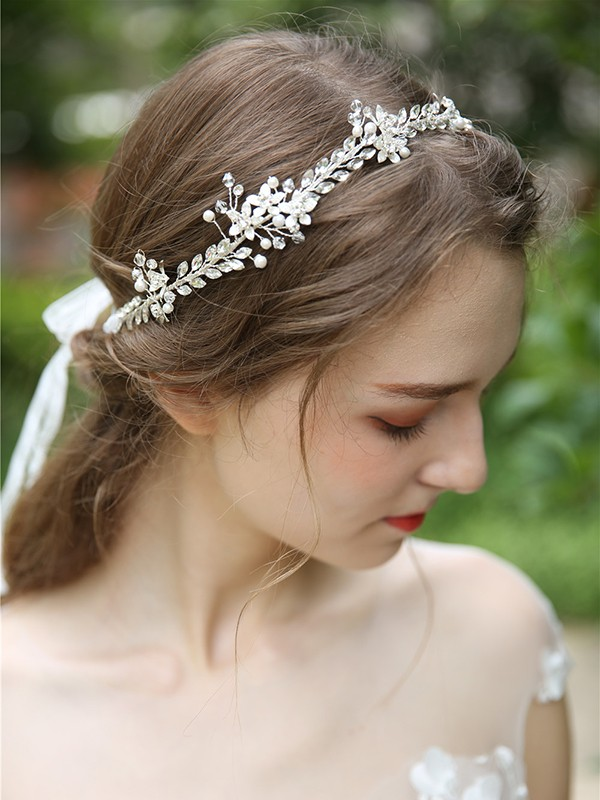 Elegant Simple Crystal Headpiece