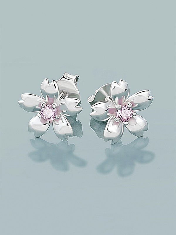 New Hot Sale Sterling Silver With Flowers Earrings