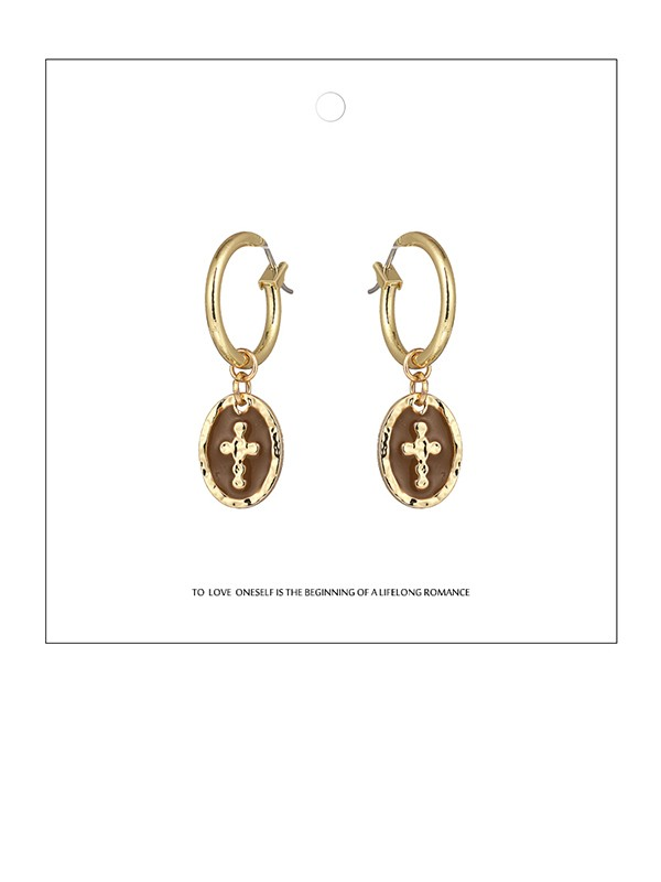 New Hot Sale Zinc Alloy With Cross Earrings